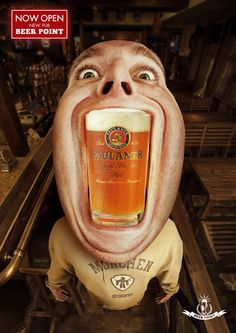 This is a series of ads for the Beer Point Pub.  I would check out the blog link.  It has several other funny images like this with different characters with different brews.