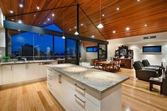 Luxurious contemporary single family house designed by Cambuild located in the city of Perth, Australia. Contemporary Architecture, Interior Architecture, Perth, Dream Decor, Beautiful Kitchens, House Rooms, Decor Interior Design, Home Renovation, Ideal Home
