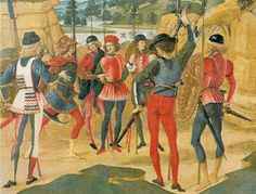 Paintings of Italian Soldiers of the mid to late 15th Century