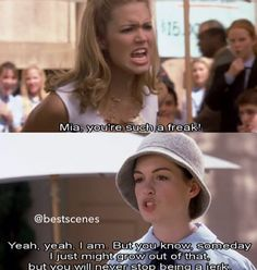 Princess Diaries Quote.. Wow. This describes how I feel for everybody who treats people like crap -_-