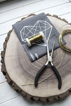 Urban Geometric: DIY Cake Topper von Jane Weber und Feines Handwerk   Hochzeitsblog - The Little Wedding Corner