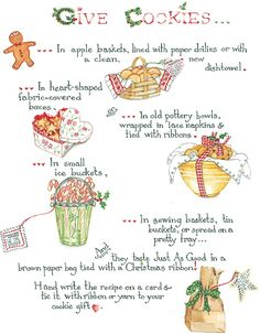 Susan Branch, holiday Give Cookies Noel Christmas, Christmas Goodies, Christmas Treats, Christmas Baking, Christmas Recipes, Susan Branch Blog, Macarons, Fabric Covered Boxes, Branch Art