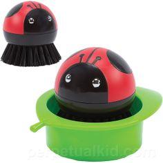 Ladybug Scrub Brush and Holder- too cute to use?