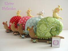 Snail pincushions - cute!