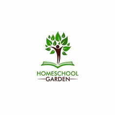 Create an attractive graphic for Homeschool Garden by 4 Real