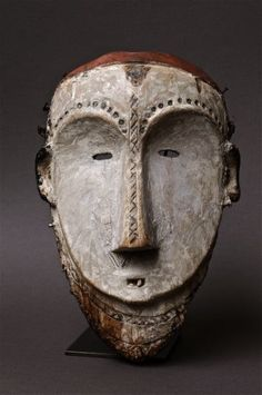 Africa | Mask from the Mitsogo people of Gabon | Wood | Image ©Michel Renaudeau