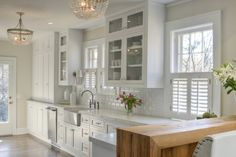 Allison Harper Interior Design - Interiors Use shutters to cover up lower window in kitchen?