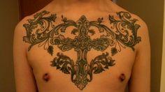 Chest Tattoo Designs: Cross Chest Tattoo ~ Tattoo Design Inspiration