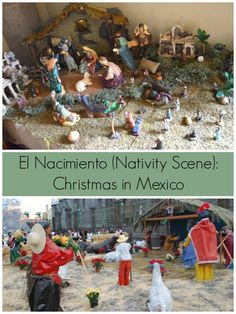 All about Christmas in Mexico: las posadas, nacimientos (Nativity scenes), luces de bangala (sparklers), and more:). Great for Christmas around the world units.