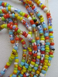 RexBeads.com - Small Ghana Glass/Christmas/Waist Beads