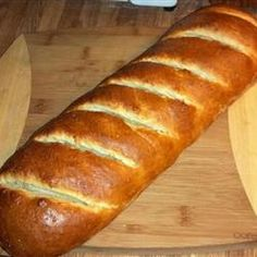 My favorite french bread recipe!  Best for all Italian meals... plus make nummy french toast the next day!  Crusty French Bread Allrecipes.com