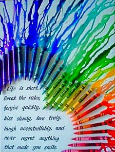 Crayon art with inspirational quote!
