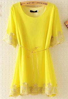 Yellow Chiffon Tunic