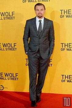 """Leonardo DiCaprio in Giorgio Armani at the """"Wolf of Wall Street"""" UK Premiere"""