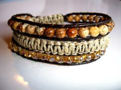 Canyon Valley Leather Wrap Bracelet