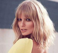 Hair Health And Beauty, Hair Beauty, Beauty Style, Fashion Beauty, Julia Stegner, Short Hair Cuts, Short Hair Styles, Long Bob With Bangs, Really Long Hair