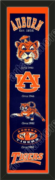 This Auburn University heritage banner framed to 8 x 32 inches.  $89.99 @ ArtandMore.com
