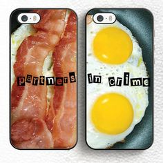 Bacon Eggs Partners in Crime Best Friends Couple iPhone Cases