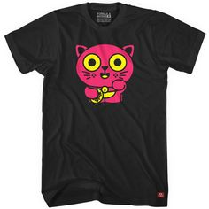 """Lucky Neko"" T-shirts by Delme are now available in custom colors for all ages. Get yours here: http://freshism.com/lucky-neko-tshirt"