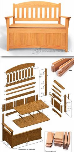 Deacons Bench Plans - Furniture Plans and Projects | WoodArchivist.com
