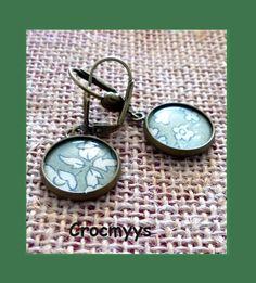 Boucles d'oreilles liberty capel kaki 15 mm : Boucles d'oreille par crocmyys