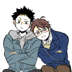 ||Haikyuu!!|| WHY DOES OIKAWA LOOK LIKE A DAD THIS HAS BEEN KILLING ME STOP THIS U AND UR RICH CLOTHES also nice whatever the hell yOURE WEARING IWA