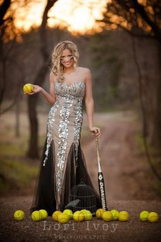 What a great idea for the well rounded girl, for senior pics! Luv luv luv this! … What a great idea for the well rounded girl, for senior pics! Luv luv luv this! Senior Softball, Softball Senior Pictures, Girl Senior Pictures, Girls Softball, Prom Pictures, Senior Photos, Senior Portraits, Softball Stuff, Cheer Pictures
