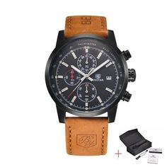 Product description: - PRECISE TIME KEEPING: Quartz Movement, provide precise and accurate time keeping. - QUALITY LEATHER BAND STRAP with DURABLE and COMFORT: stainless steel case cover makes it supe