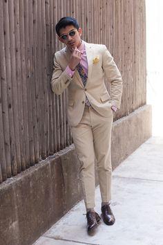 the khaki suit