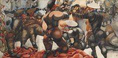 Edward Burra, Soldiers at Rye 1941, Tate Collection