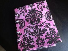 Pink and Black Damask Mini Photo Album by lovebirdbooks on Etsy, $14.00