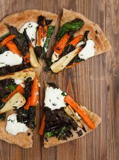 Pizza with Ricotta Cheese: Root vegetables are plentiful in the winter ...