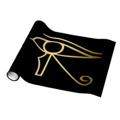Egyptian Eye of Horus Wrapping Paper, symbolizing the protection of the Egyptian god Horus. This design is available on other products in egyptiansymbols.peculiardesign.net . See other collections in peculiardesign.net