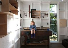 Architect Visit: A Garden Workshop in Cambridge – Gardenista – shedstudio Workshop Shed, Workshop Design, Workshop Storage, Garden Workshops, Modern Shed, Garden Tool Storage, Tool Sheds, Outdoor Sheds, Building A Shed