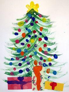 SCHRIJFDANS - Kerstboom maken met buitenwaartse bewegingen