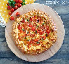 Kahvaltı Pizzası Hawaiian Pizza, Vegetable Pizza, Brunch, Food And Drink, Bread, Vegetables, Breakfast, Desserts, Recipes