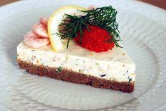 Voorgerecht: garnalen-kwarktaart (Skagen Cheesecake)