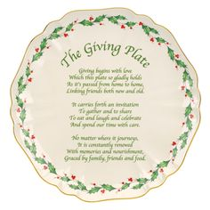 Holiday Carved Giving Plate