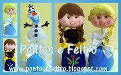 Resultado de imagen para frozen em feltro Frozen Felt, Christmas Ornaments, Holiday Decor, Safari, Home Decor, Feltro, Molde, Decoration Home, Room Decor