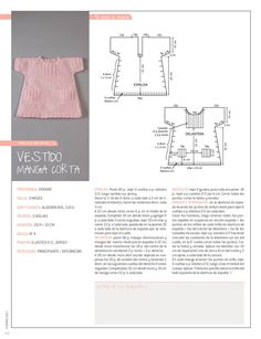 Tricô Easy Recipe Magazine Baby Cloud Magazine Knit in Spanish 25 recipes … - Everything About Knitting Baby Knitting Patterns, Baby Dress Patterns, Kids Patterns, Knitting For Kids, Easy Knitting, Crochet For Kids, Tricot Baby, Baby Candy, Baby Girl Crochet