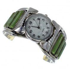 Southwest Jewelry Turquoise Sterling Silver Cuff Watch www.silvertribe.com