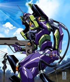 Evangelion Unit 01 by Mark Brooks *