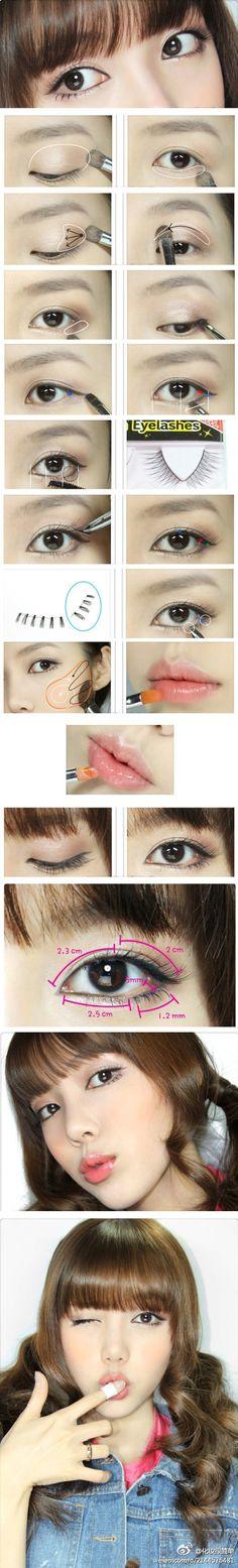 Light and natural korean makeup tutorial