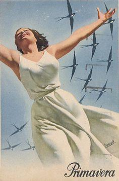 By Gino Boccasile (1901-1952), Primavera (spring). (I)