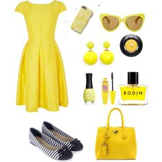 Sunny day! by sapia2 on Polyvore featuring polyvore, fashion, style, MaxMara, Accessorize, ELLA, Maybelline, Rodin and ORLY