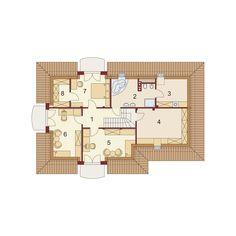 DOM.PL™ - Projekt domu DA Minor 2 CE - DOM DS1-47 - gotowy koszt budowy House Construction Plan, Bungalow House Plans, Little Houses, Floor Plans, Exterior, House Design, How To Plan, House Styles, Houses