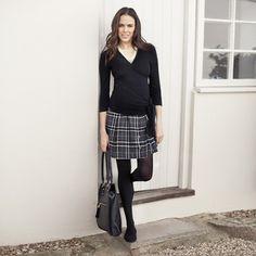 Grey Check Maternity Mini Kilt, Skirts, Maternity Clothes