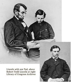 Robert Todd and Tad, two years after Lincoln's assassination, stayed at the Huntington House Hotel in Richmond.  They were traveling with Senator James Harlen & family in 1867.  Mary, Harlan's only daughter, married Lincoln's only surviving son, producing Abraham Lincoln's only heirs that survive today.