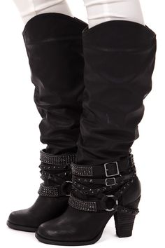 Lime Lush Boutique - Black Tall Strappy Studded Boot, $84.99 (http://www.limelush.com/black-tall-strappy-studded-boot/)                                                                                                                                                                                                                                                                                                                                                                                                                                                                                                                                                             Lime Lush