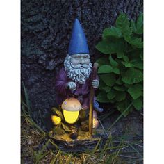 Hiking Solar Garden Gnome-From Greater Good, Every Purchase Funds Food and Care for Rescued Animals.